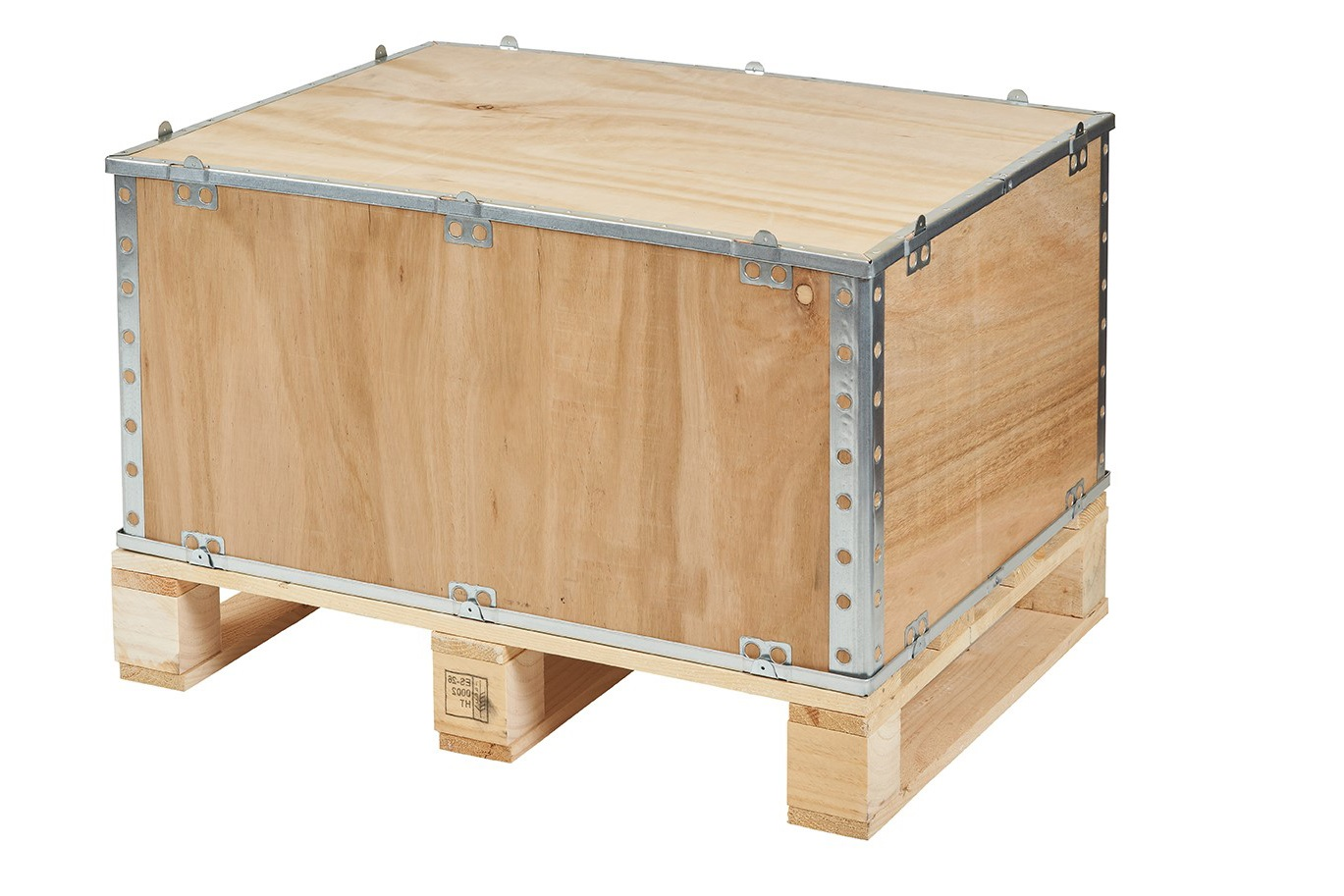 Folding wooden crate